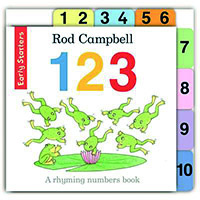 Book Interview Review #11: 1 2 3 : A Rhyming numbers book by Rod Campbell