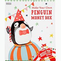 Make Your Own Penguin Money Box Art Set – Merry Circus – M&S