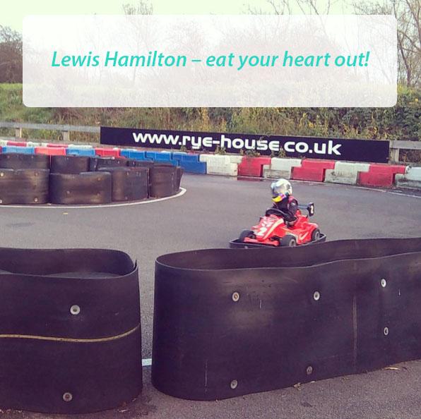 Lewis Hamilton – eat your heart out!