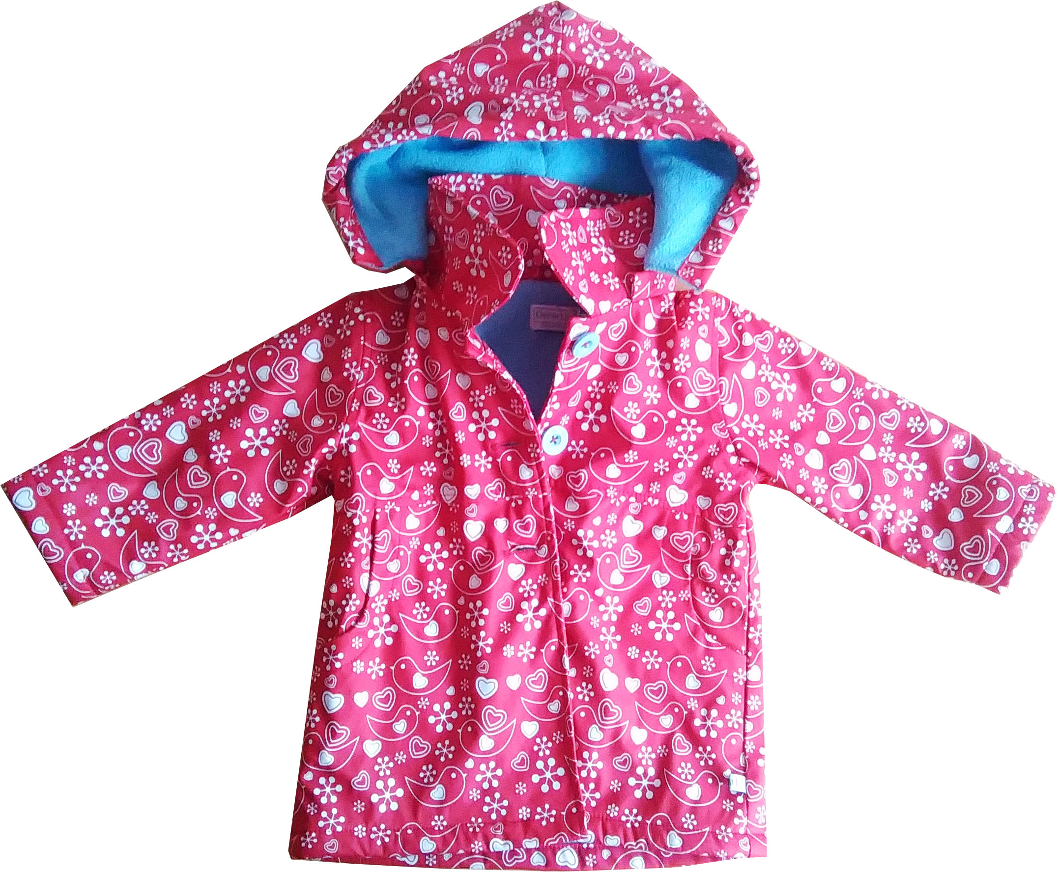 My Mini Style: Oscar Lily Nordic Print Waterproof Coat