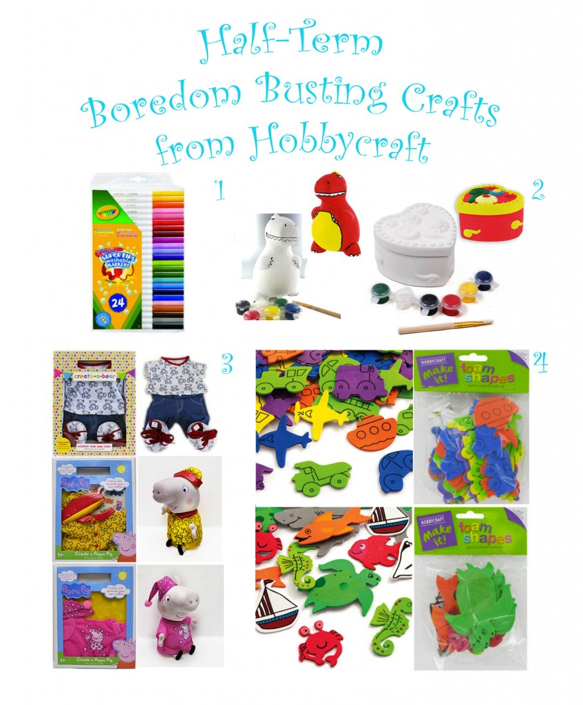 Half Term Boredom Busting Crafts from Hobbycraft