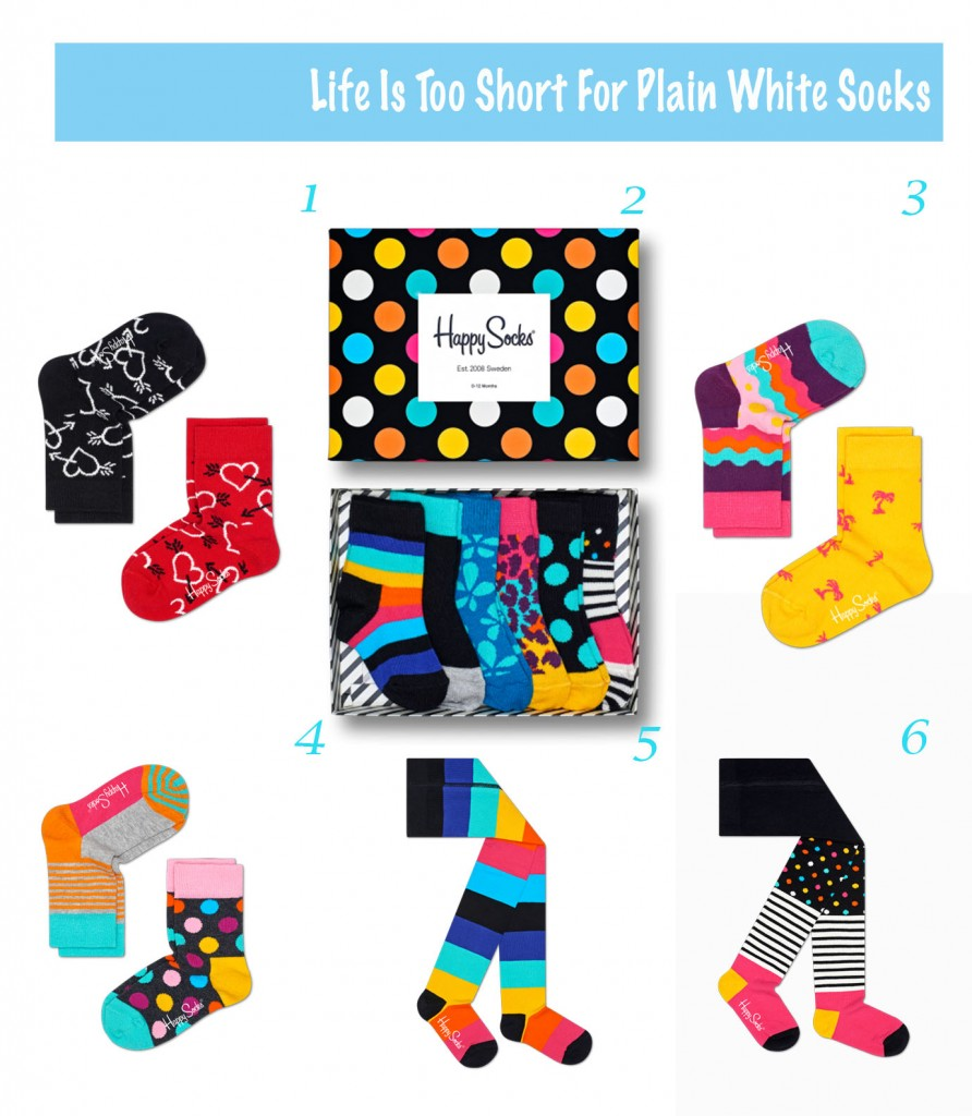 Life Too Short for Plain White Socks with Happy Socks