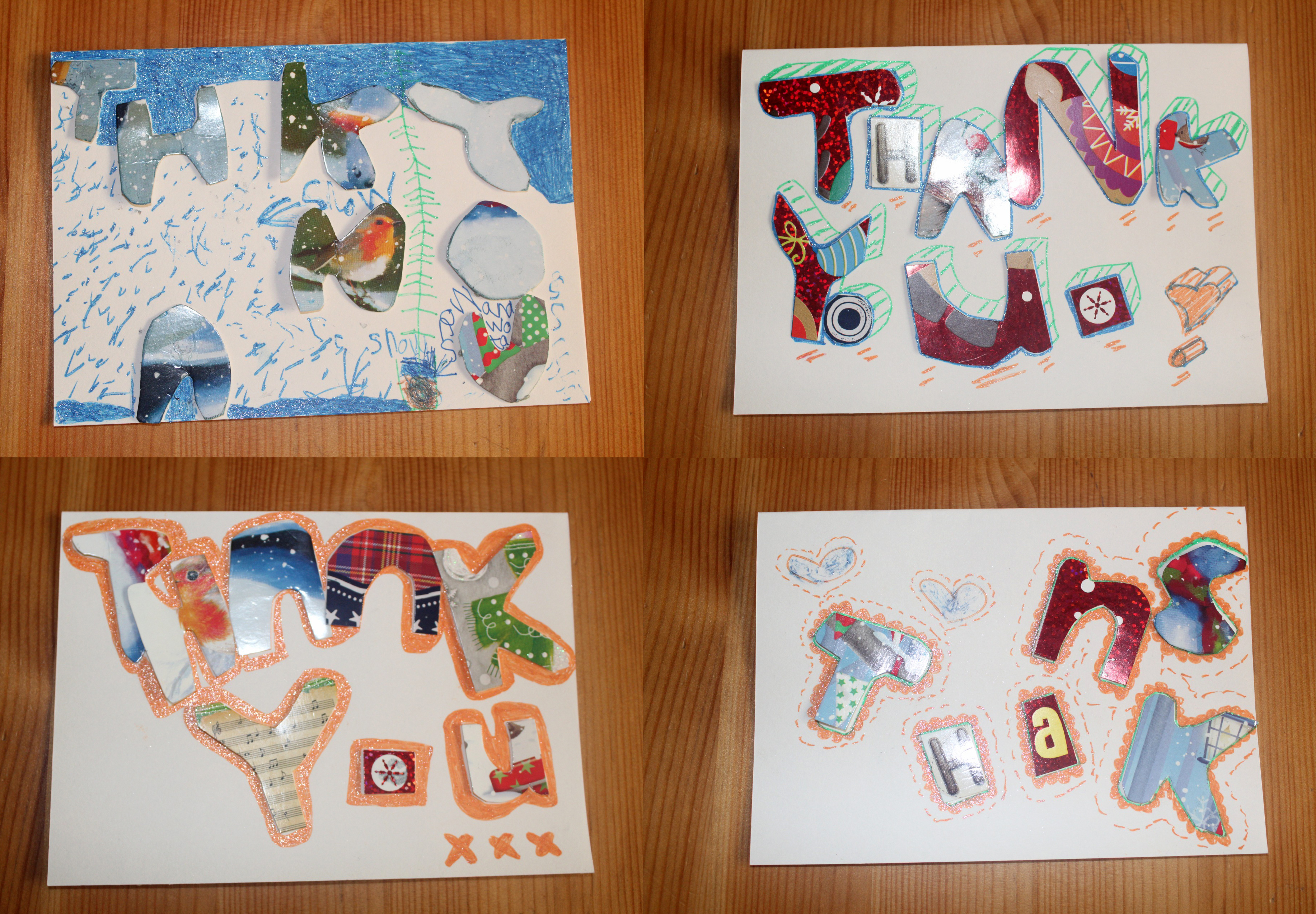 "3 Easy Steps Make Your Own Upcycled ""Thank You"" Cards"