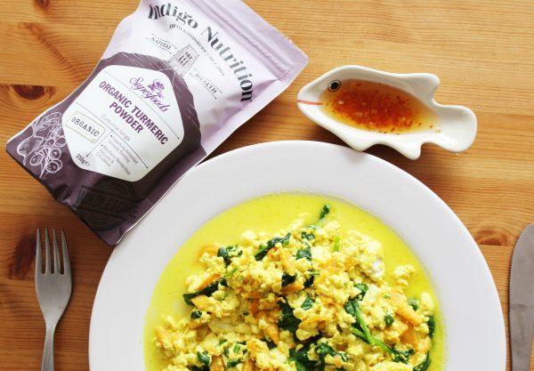 Tofu Scramble with Indigo Herbs Organic Turmeric Powder
