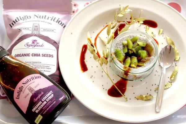 Warm Chai Seeds Pudding with Coconut Milk & Kiwi