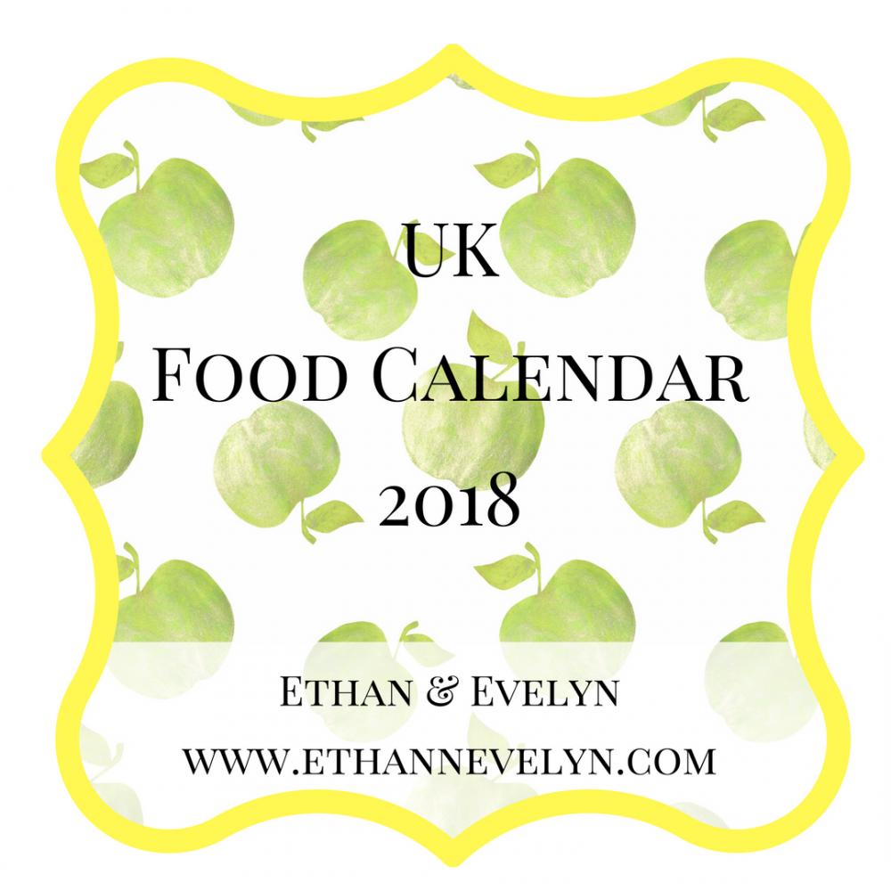 UK Food Calendar 2018