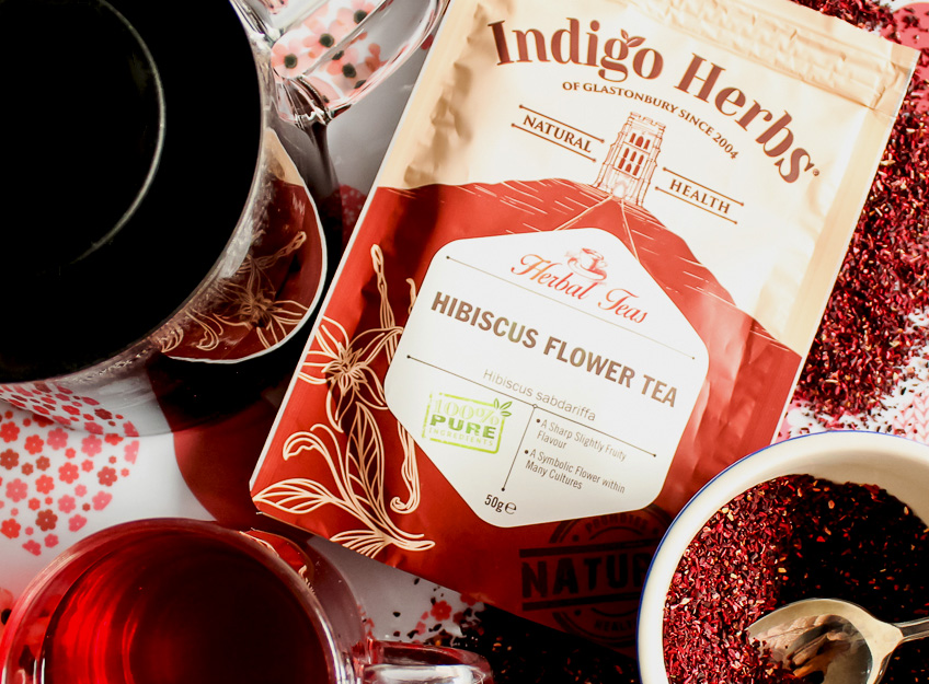 April Tea Party with Indigo Herbs Hibiscus Tea